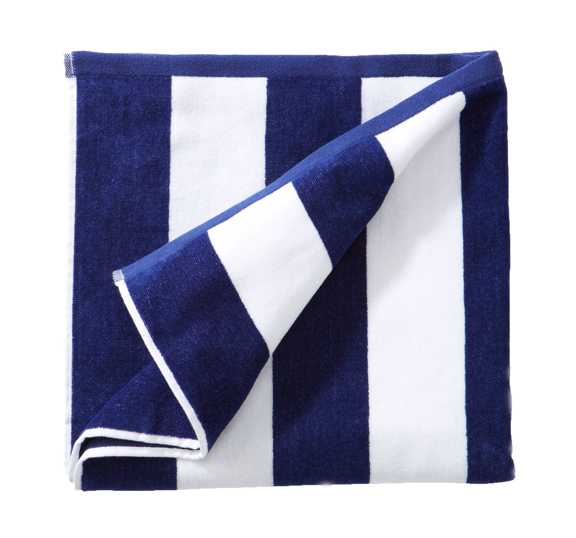 Great Bay Home Beach Towel - blue stripes