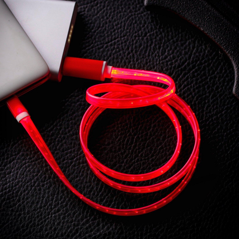 iPhone Ladekabel, Geabon Sichtbare LED Licht 3ft: Amazon.de: Elektronik