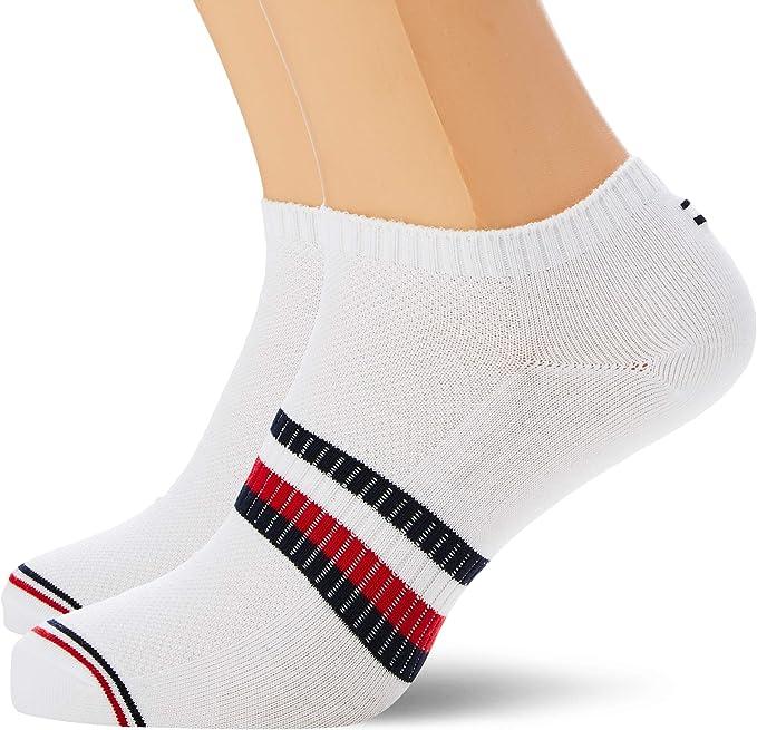 Tommy Hilfiger Th Men Sneaker 2p Pete Calcetines, Multicolor (White 300), 43/46 (Talla del fabricante: 043) (Pack de 2) para Hombre: Amazon.es: Ropa y accesorios