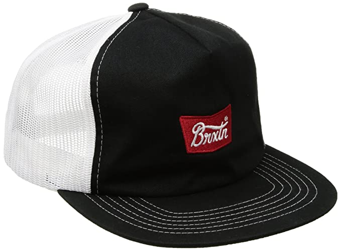 15df7a2c Amazon.com: Brixton Men's stith Mesh Cap, Black, One Size: Clothing