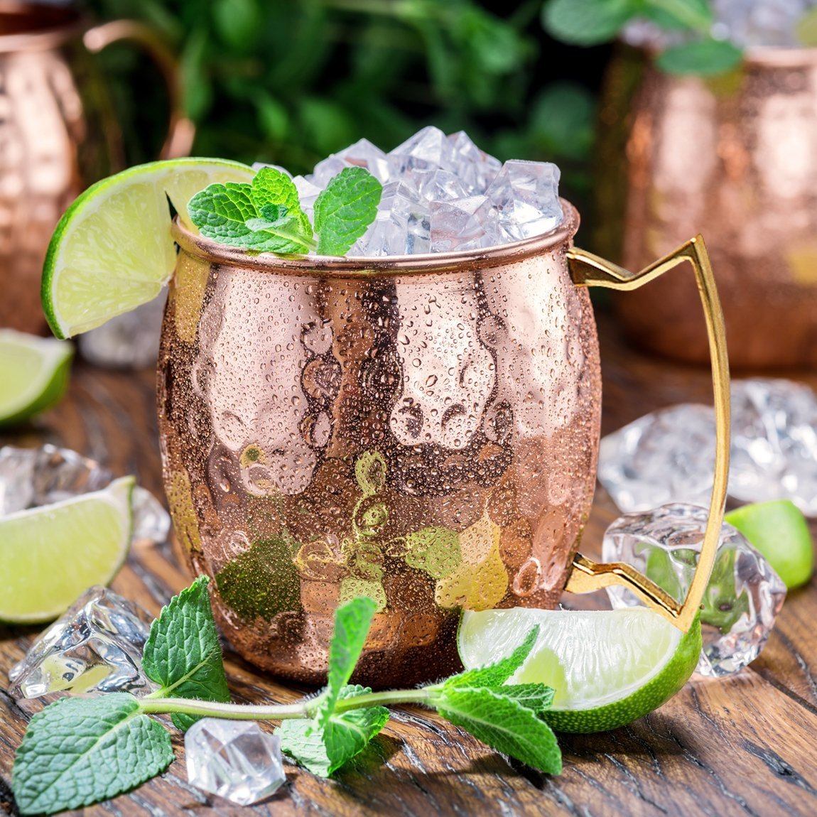 Moscow Mule Copper Mugs - Set of 4-100% HANDCRAFTED - Food Safe Pure Solid Copper Mugs - 16 oz Gift Set with BONUS: Highest Quality Cocktail Copper Straws and Jigger! by Benicci (Image #9)
