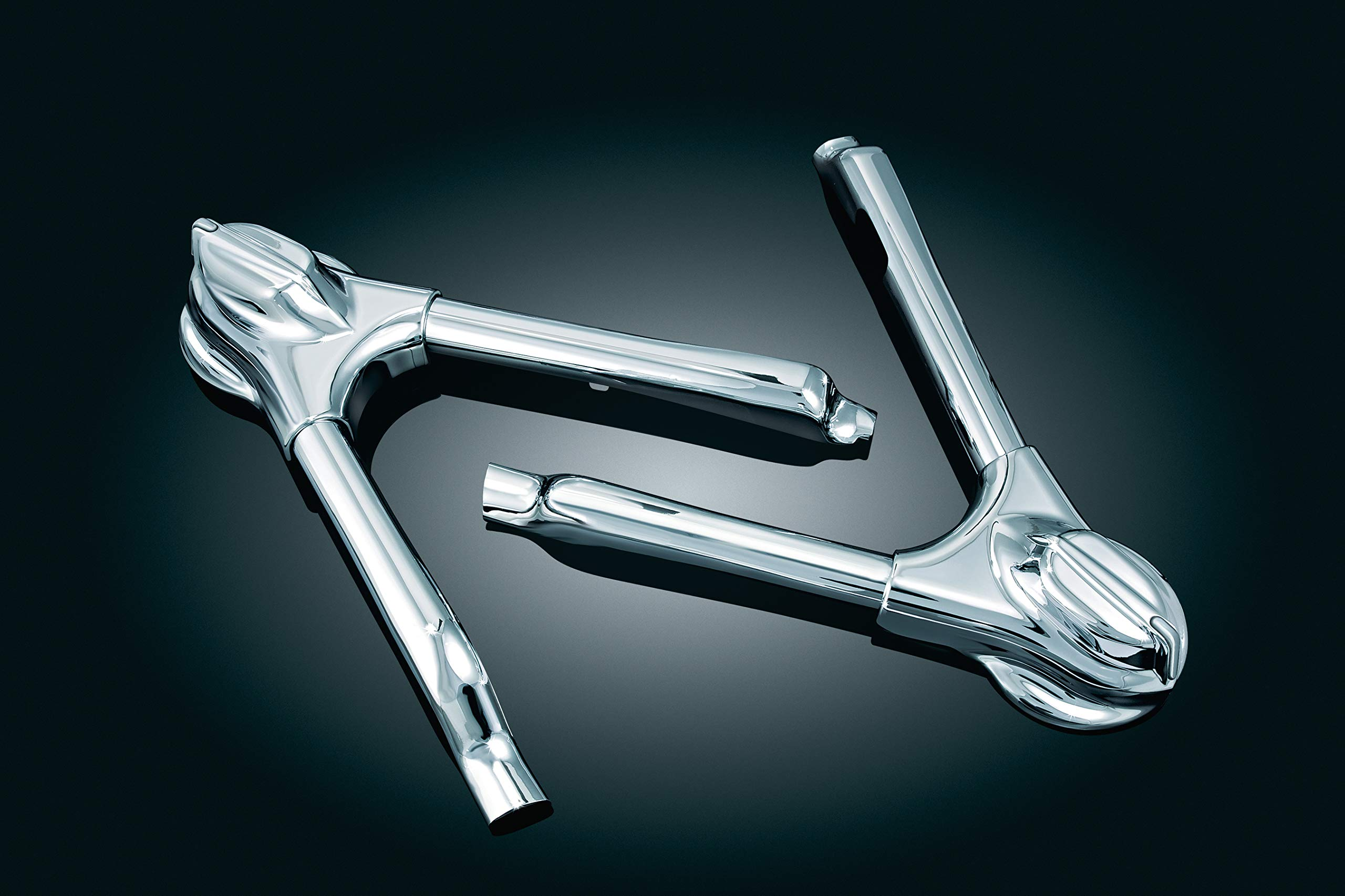 Kuryakyn 7815 Motorcycle Accent Accessory: Swingarm Covers for 2008-17 Harley-Davidson Softail Motorcycles, Chrome