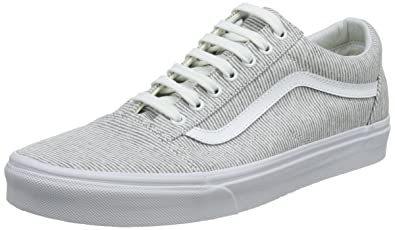 Vans Women s Old Skool Trainers Grey ((Jersey) Gray True White I1f ... d855ce48e