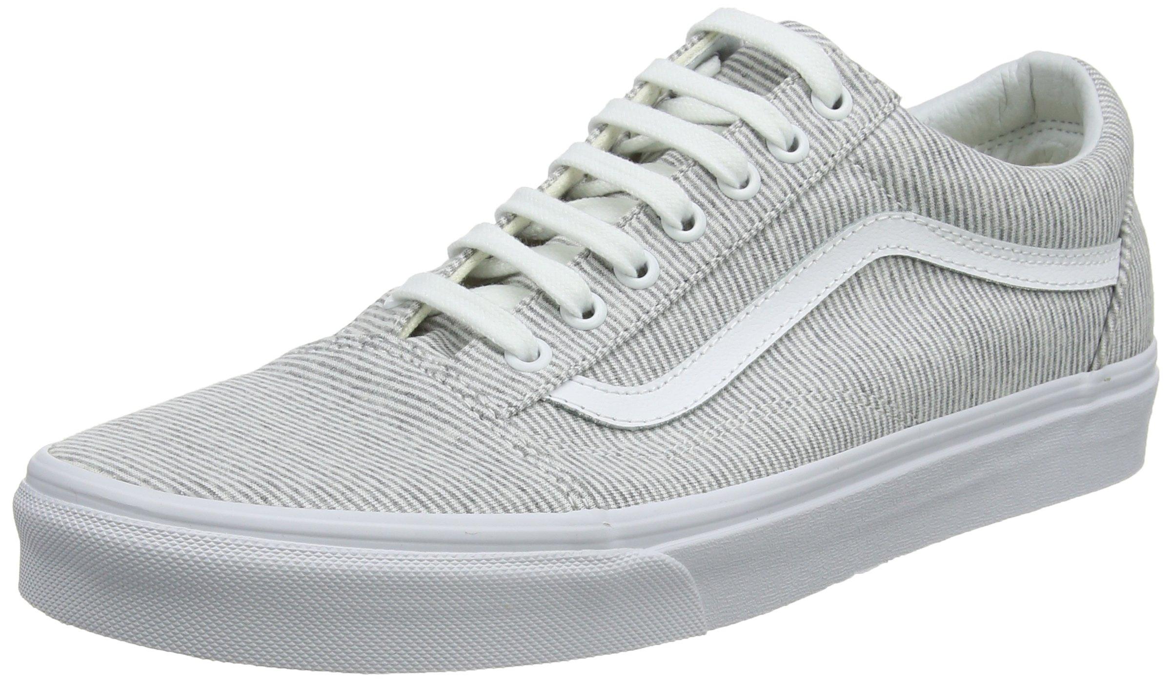 Vans Women's Old Skool Trainers, Grey ((Jersey) GrayTrue White I1f), 6 UK 39 EU