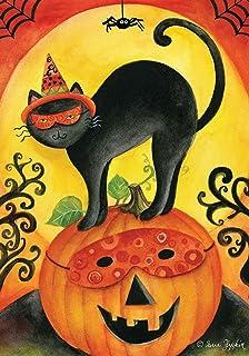"Halloween Party Primitive Garden Flag Owl Black Cat Jack o/'Lantern 12.5/"" x 18/"""