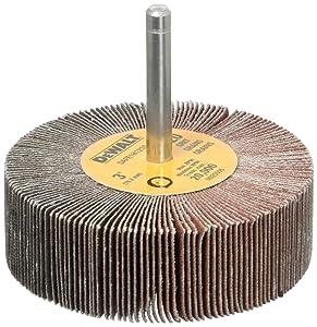 DEWALT DAFE1H1210 3-Inch by 1-Inch by 1/4-Inch HP 120g Flap Wheel