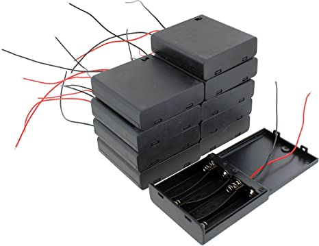 10 Pack of 4xAA Battery Holders with On/Off Switch and Wire Leads On Off Switch Wiring on