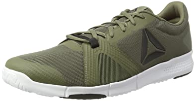 Bs8049, Zapatillas de Gimnasia para Hombre, Verde (Hero-Hunter Green/Primal Red/Coal/White), 47 EU Reebok