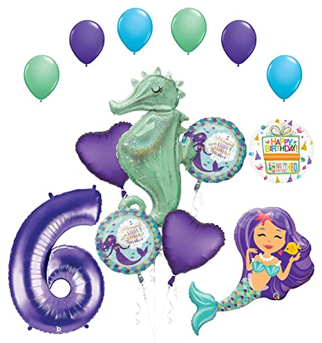 Amazon Mermaid Wishes And Seahorse 6th Birthday Party Supplies