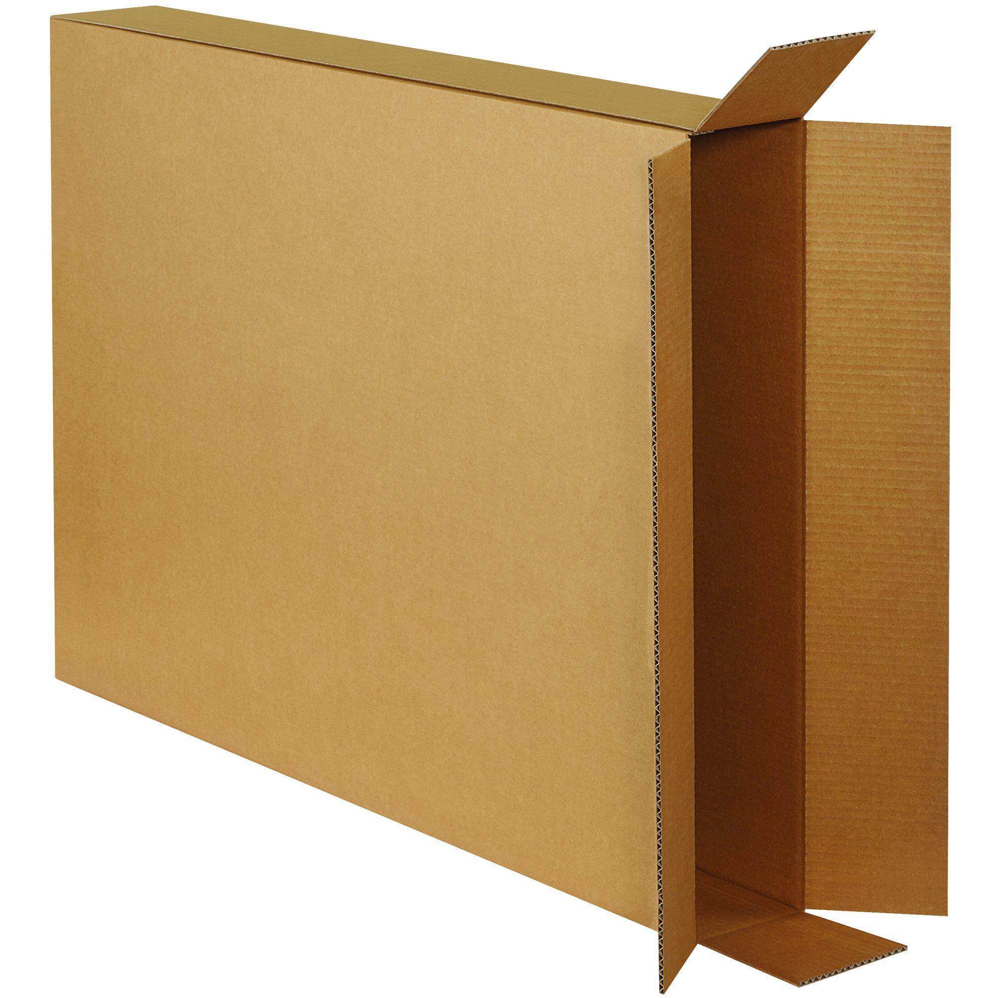 Aviditi 28538FOL Side Loading Boxes, 28''L x 5''W x 38''D, Kraft (Pack of 10)