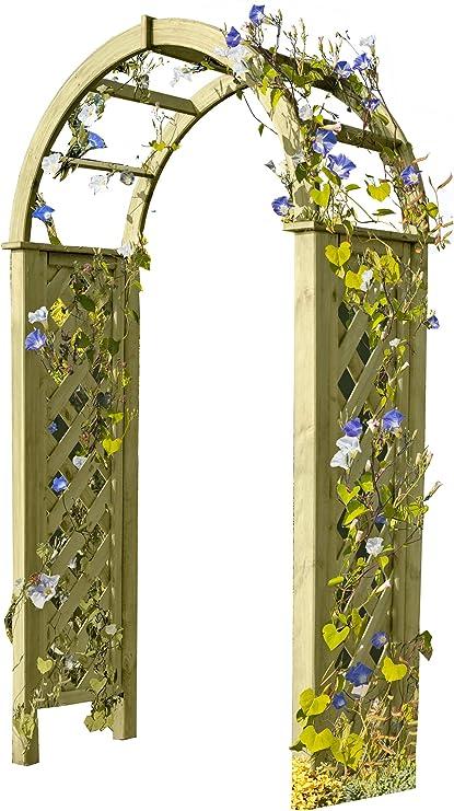 Gartenpirat - Pergola, con arco, madera con enrejado, 119 x 58 x ...