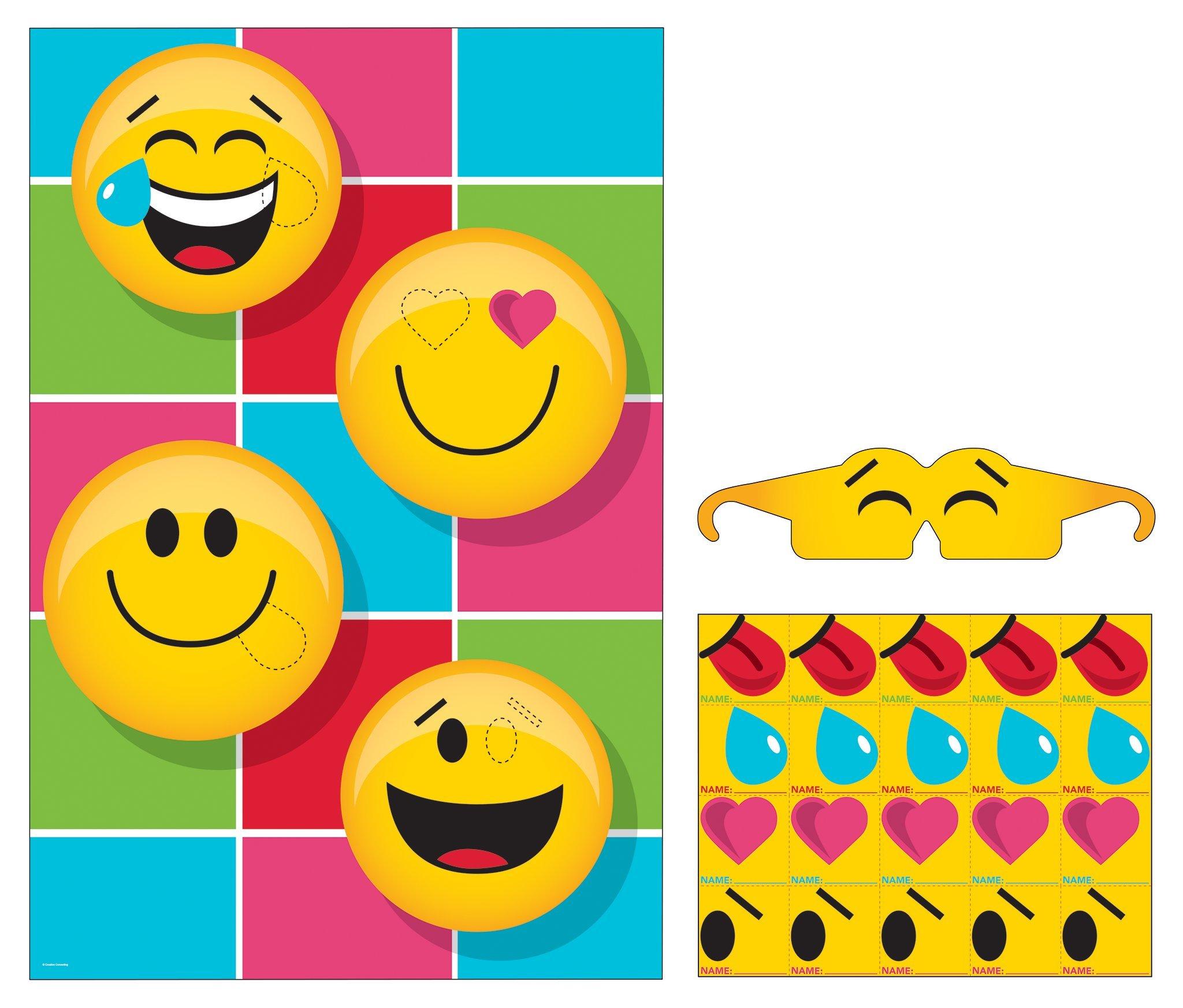Poop Emoji Party Value Pack (16 Plates, 16 Napkins, 1 Pin Game)