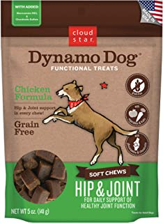 product image for Cloud Star Dynamo Dog Hip & Joint, Functional Soft Chews with Glucosamine, Chondrotin & Grain Free