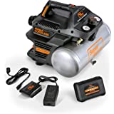 SuperHandy Air Compressor Cordless 2 Gal 135 PSI 10Amp 3/4eHP Portable Tire Inflator Ultra Quiet Oil Free 48V DC Lithium Ion