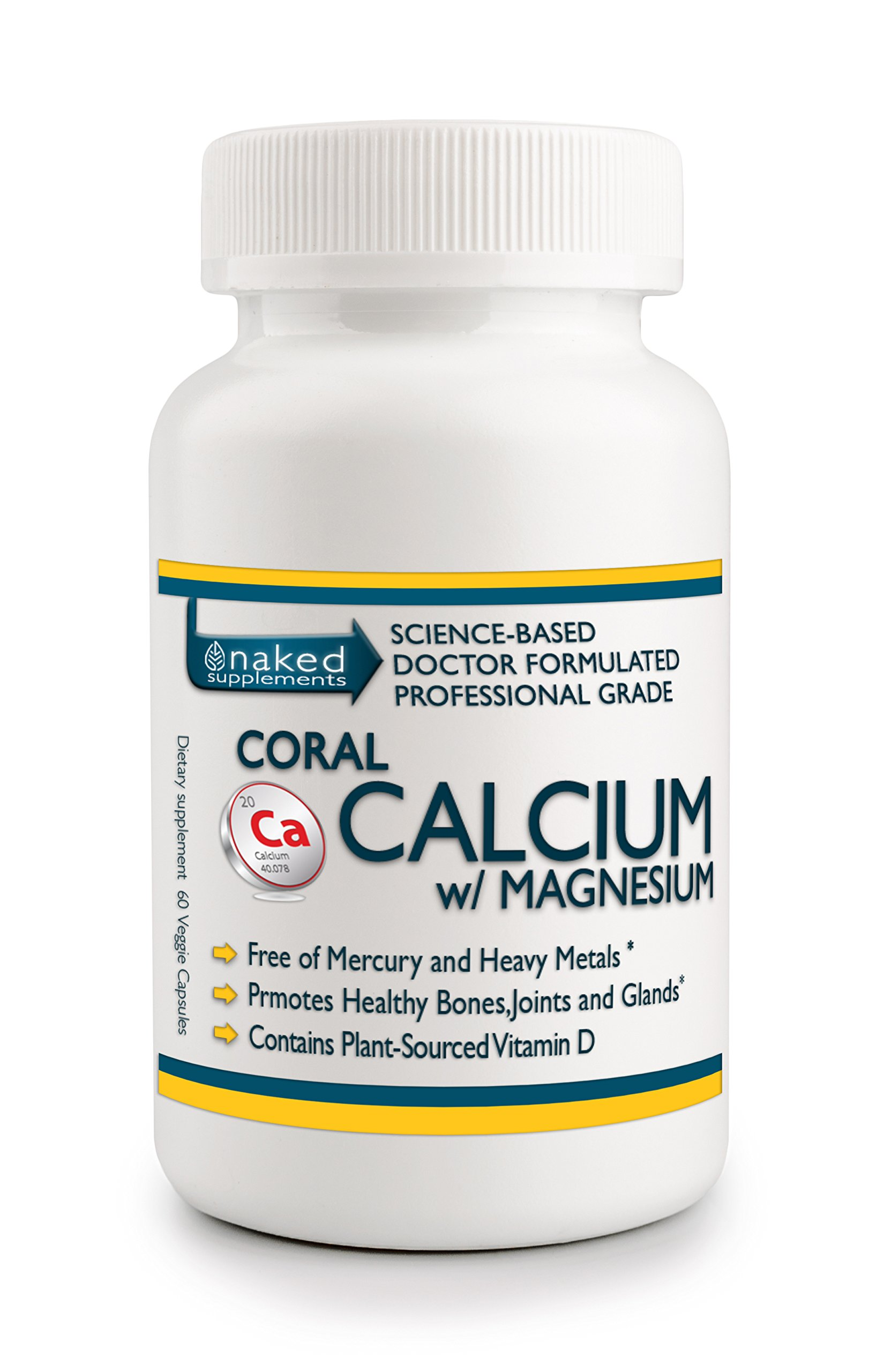 Professional Grade CORAL CALCIUM w/ Magnesium_Superior Ionized Calcium-Magnesium Delivery System for Immediate Uptake into the Body. No Added Stearates (1)