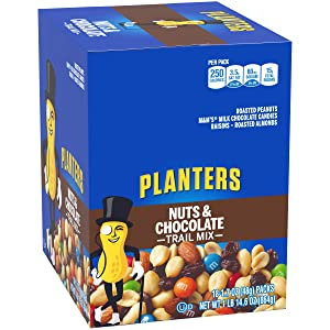 Planters Chocolate Trail Mix Nuts (1.7 oz Bags, Pack of 18)