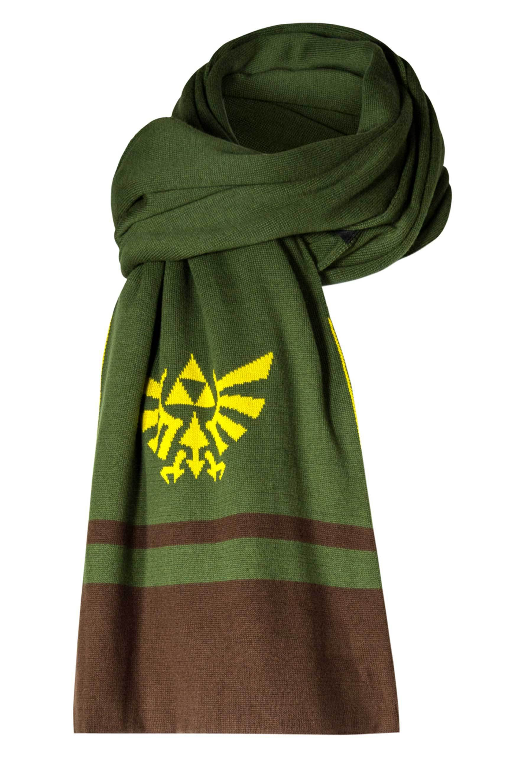 Musterbrand Zelda Knitted Scarf Hyrule Green ONE