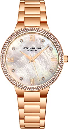 Amazon Com Stuhrling Original Wrist Watches For Women Rose Gold