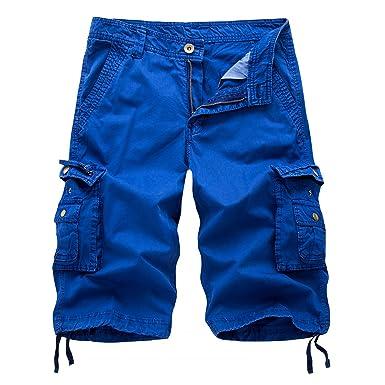 AYG Cargo Shorts Herren Bermudas Baumwolle Shorts Freizeit Sport 30-40   Amazon.de  Bekleidung 252166102c