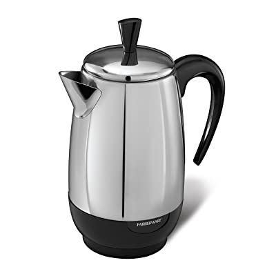 Farberware 8-Cup Percolator, Stainless Steel