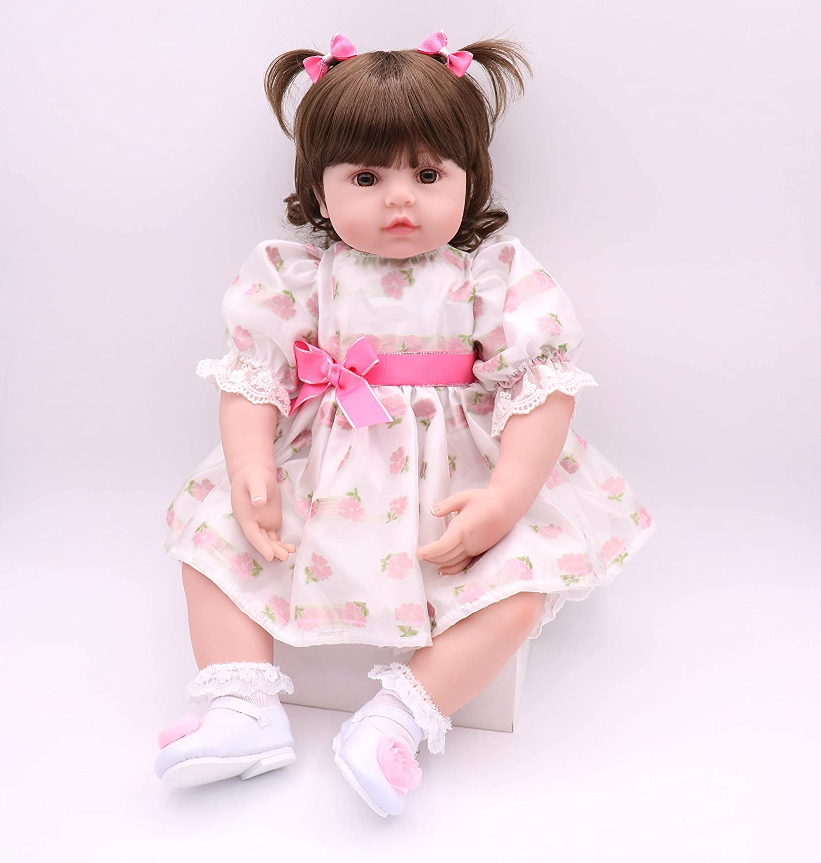 Amazon.com: Pinky 24 inch 24 inch Lovely Big Reborn Baby ...