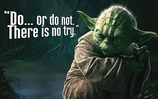 Time4art Star Wars Yoda Do Or Do Not Bilder Leinwand