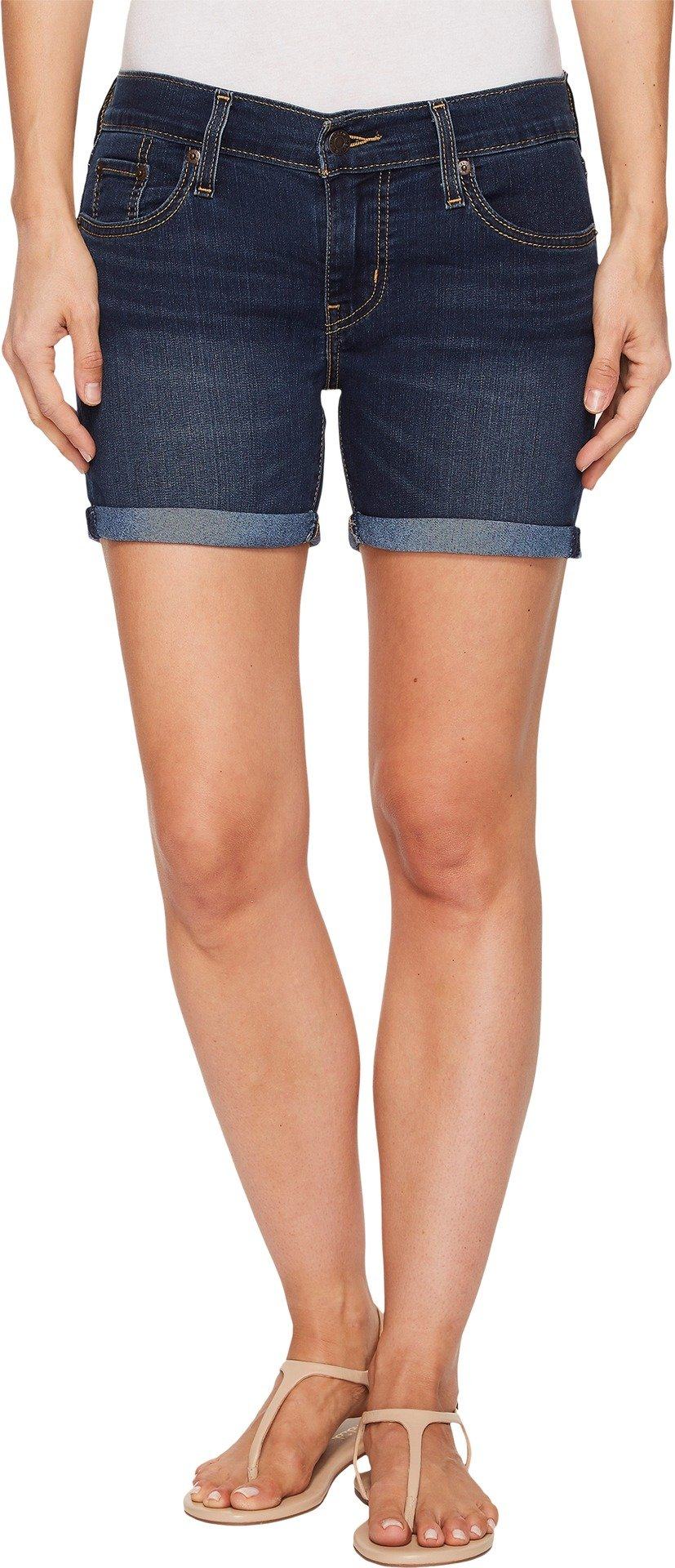Levi's Women's Mid Length Shorts, Lost Blues 27 (US 4)