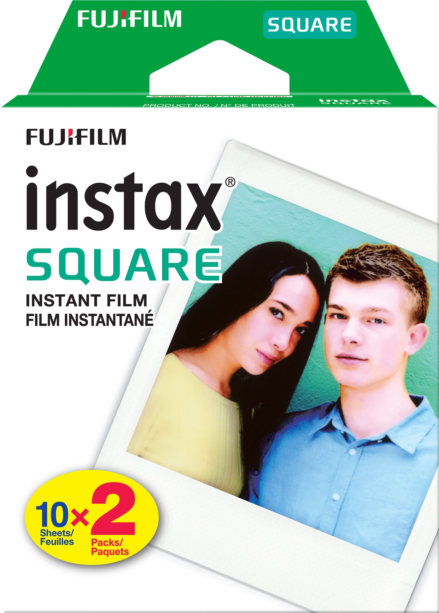 Fujifilm Instax Square Twin Pack Film - 20 Exposures by Fujifilm