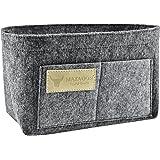 Matador Useful Goods | Tote Bag Organizer Insert | Purse, Makeup, Hand Bag Organizer | Multipocket, Medium, Grey Felt