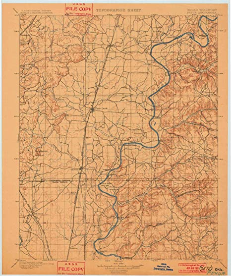 Amazon.com : YellowMaps Pryor OK topo map, 1:125000 Scale ...
