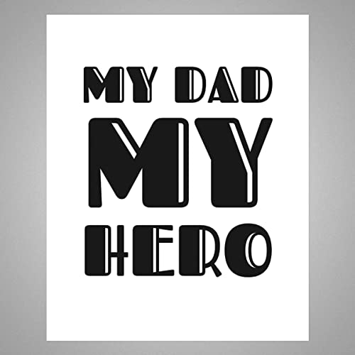 Amazoncom My Dad My Hero Gift For Father Decor 8 Inches X 10