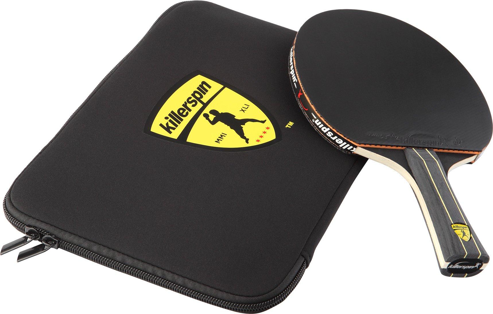 edfd6670d72 Killerspin Jet Black Ping Pong Racket Combo – Intermediate Table ...
