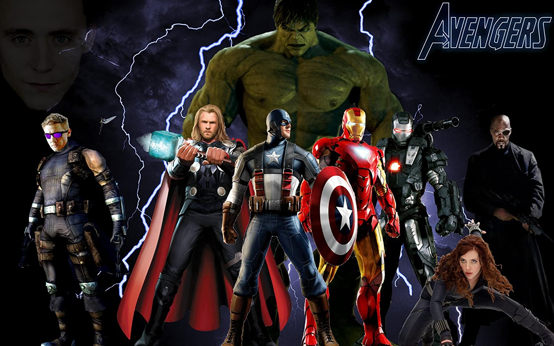 Posterhouzz The Avengers Hulk Hawkeye Thor Captain America