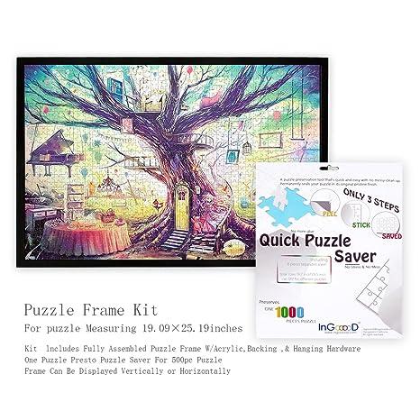 Amazon.com: Ingooood- Jigsaw Puzzle Frame Kit with puzzle saver ...