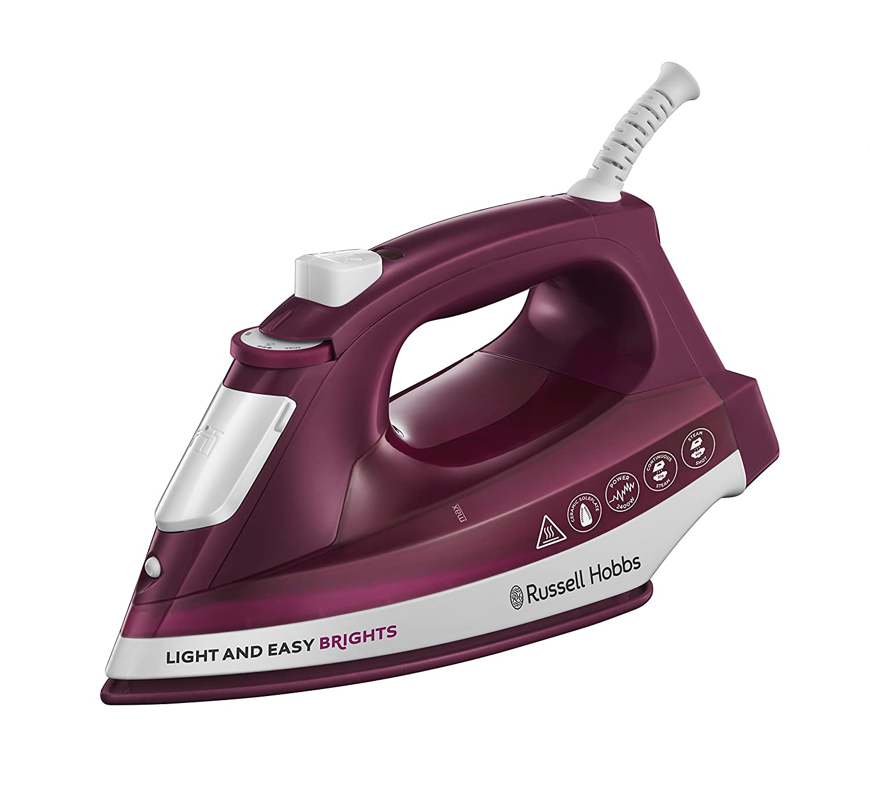 Russell Hobbs 24820 Light & Easy Brights Iron, 2400 Watt, Mulberry