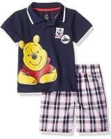 Disney Baby-Boys 2 Piece Winnie The Pooh Polo and Plaid Short Set