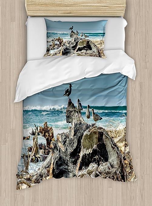 Seagulls Duvet//Quilt Cover with Pillow Case  Bedding Set Single/& Double