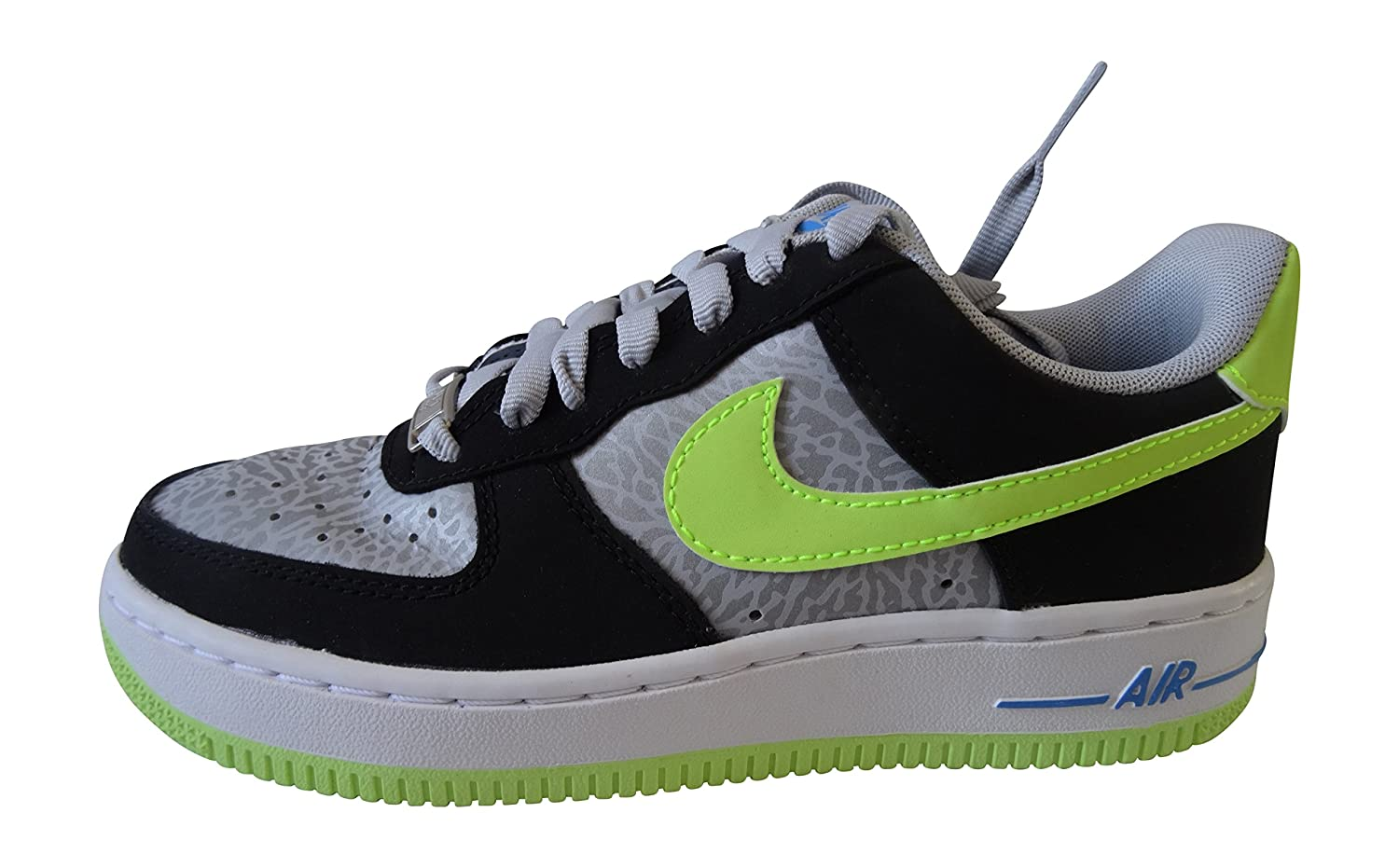 Nike Air Force 1 Gs 314192_Synthetik Unisex-Kinder Low-Top Sneaker  36 EU|reflective silver volt black 070