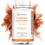 DACHA Nutrition Tumeric Curcumin Supplement - 2250mg Arthritis Joint Support Turmeric with Black Pepper Bioperine Ginger 95% Curcuminoids Anti Inflammatory Capsules Antioxidant Back Pain Relief Boost