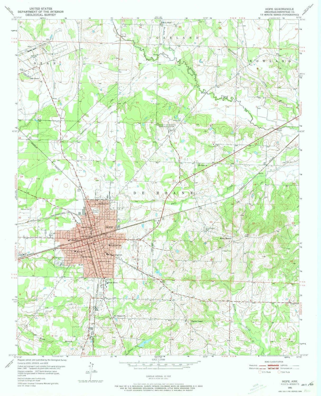 Amazon.com : YellowMaps Hope AR topo map, 1:24000 Scale, 7.5 ...