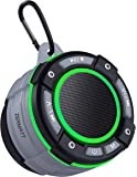 Zermatt IPX7 Waterproof Portable Wireless Bluetooth Speaker with Light Show,Suction Cup & Sturdy Hook,Lound HD Sound,TWS…