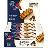 Atkins Chocolate Chip Crisp, Low Carb, High Protein Snack Bar, 15 x 30g