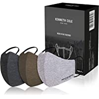 Kenneth Cole Unisex Melange PACK OF 3 100% Cotton Anti Pollution Anti Heat Anti Dust Mask 6 Layer Reusable Outdoor Face…