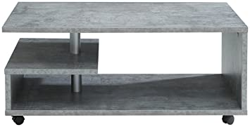 Newface Couchtisch Holz Beton 105 X 60 X 4560 Cm Amazonde