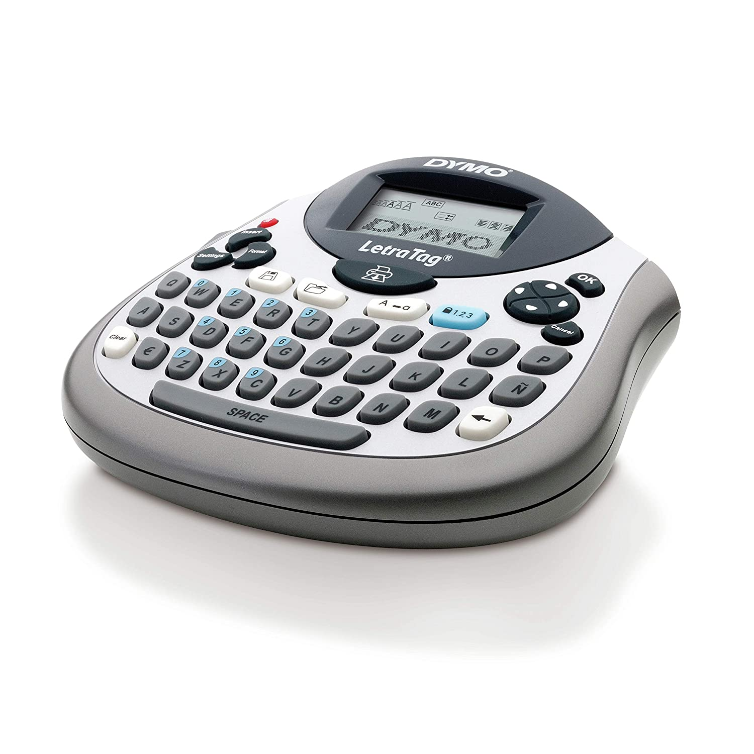 Nordic Text on Packaging Dymo Letratag LT-100T QWERTY Label Maker Plus Tape