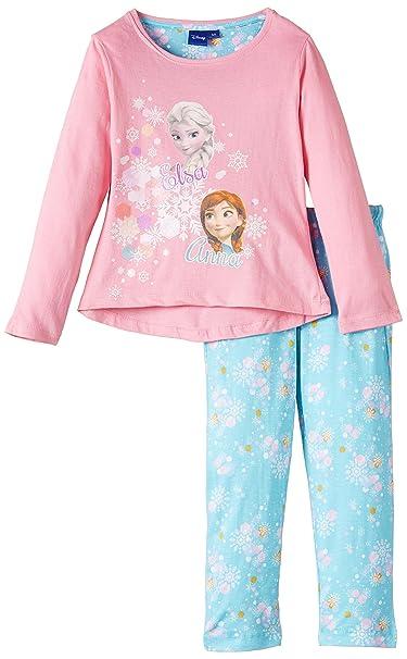 Disney Frozen - Pijama para niñas, Color Rosa - Pink, Talla 4 años/
