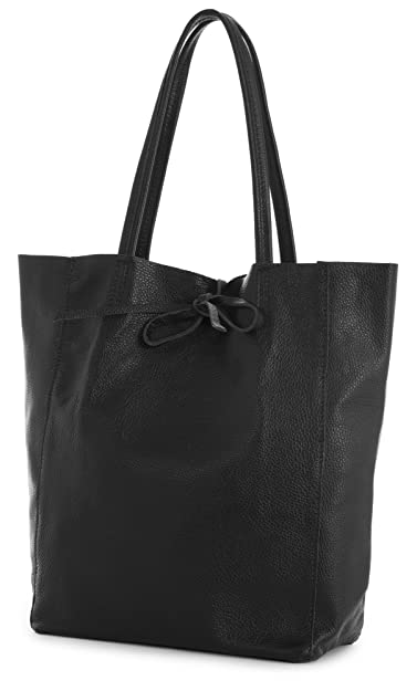 Amazon.com  LIATALIA Genuine Italian Soft Leather Leightweight Large Hobo  Tote Shopper Shoulder Handbag - ASTRID  Black   Shoes 2989c3a3f9ece