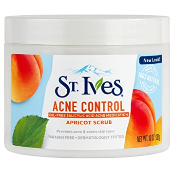 St. Ives Naturally Clear Apricot Scrub Blemish & Blackhead Control 10 oz (Pack of 4) Skin 79 3 Step Shower Glow Brightening Mask