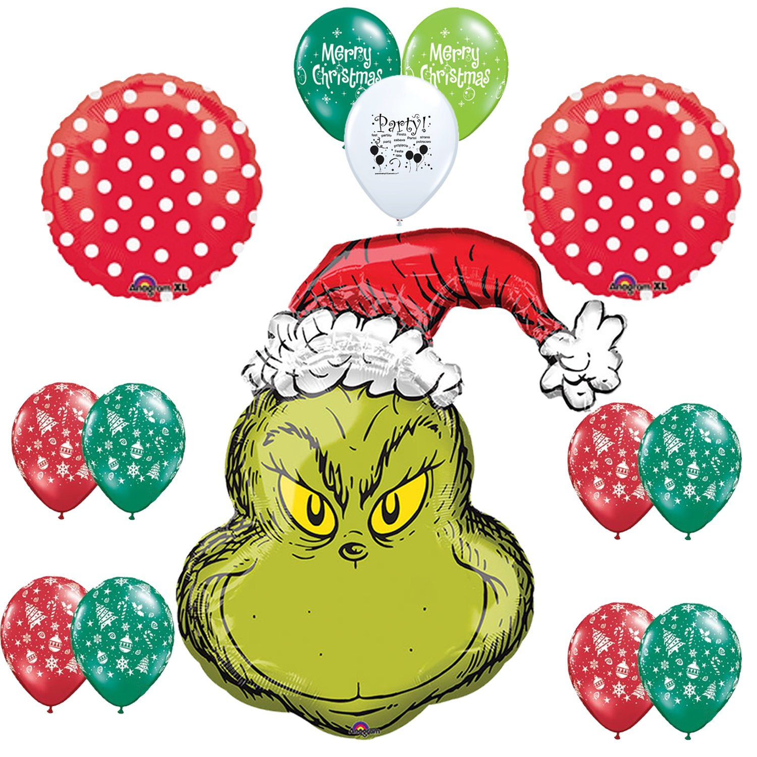 Amazoncom The Grinch Christmas Party Supplies Balloon Decorations Health &