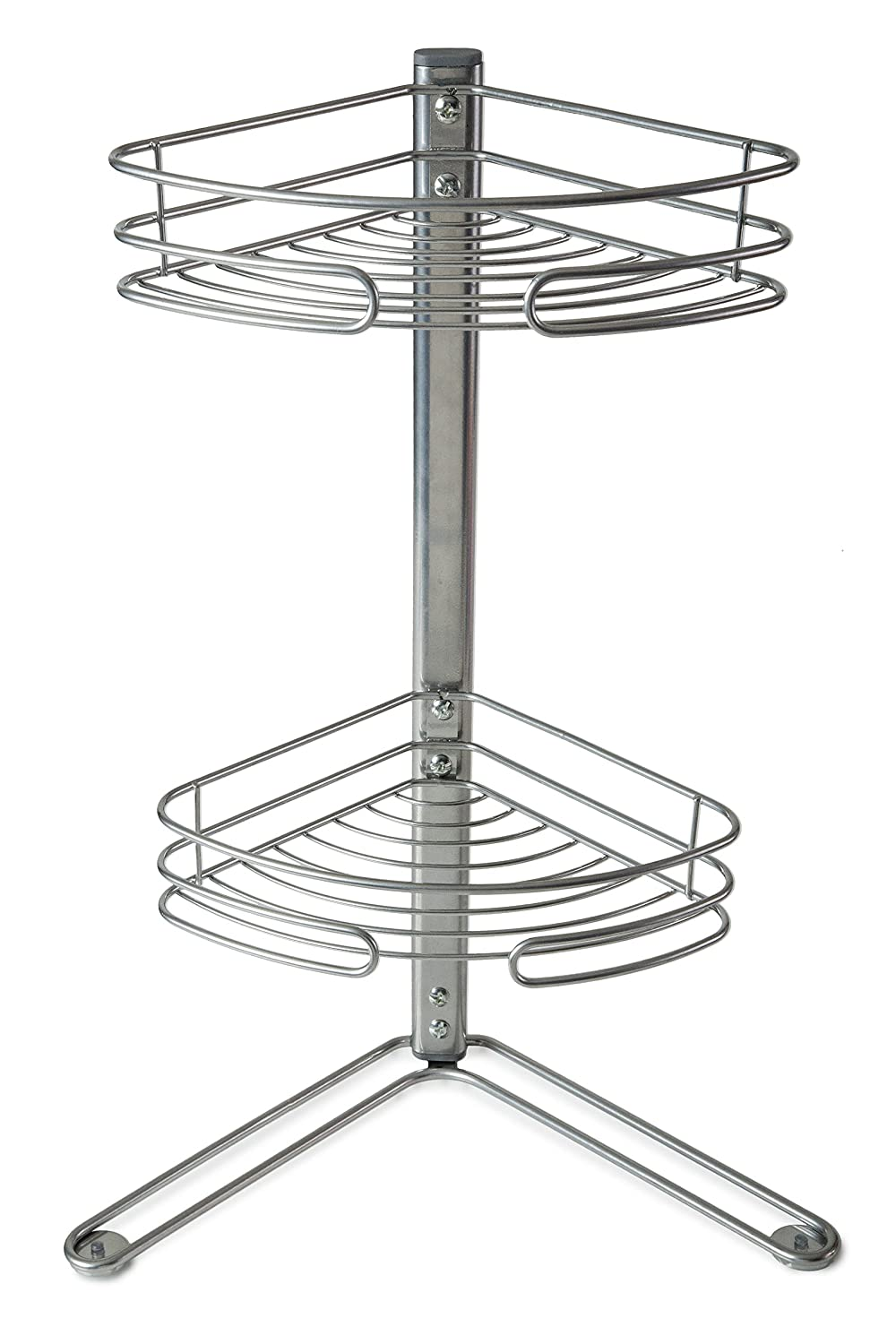Non Rust 2 Tier Corner Free Standing Shelf Storage Shower Bath Caddy ...